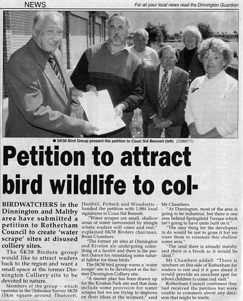 1800 name petition re development of pit tops
