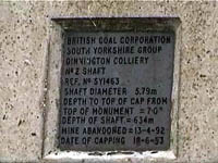 cap of Dinnington Colliery